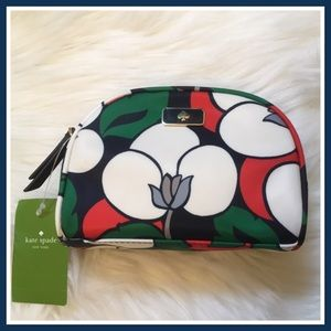 Kate Spade Breezy Floral Sm Dome Cosmetic Bag NWT